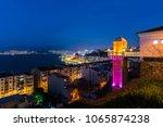 the historical elevator in... | Shutterstock . vector #1065874238