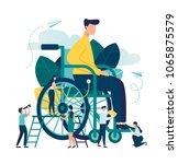 vector illustration  assistance ... | Shutterstock .eps vector #1065875579