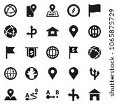 flat vector icon set   compass... | Shutterstock .eps vector #1065875729