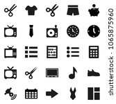 flat vector icon set   scissors ...