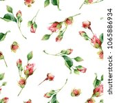 seamless floral pattern with... | Shutterstock . vector #1065886934