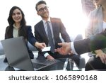 close up of two businesspeople... | Shutterstock . vector #1065890168
