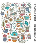 time to hygge. hand drawn...   Shutterstock .eps vector #1065896936