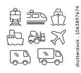transportation logistic icon... | Shutterstock .eps vector #1065897674