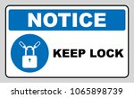 keep locked sign | Shutterstock . vector #1065898739