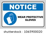 wear gloves   safety sign ... | Shutterstock . vector #1065900020