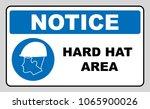 wear a safety helmet ... | Shutterstock . vector #1065900026