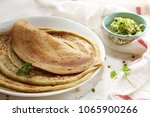 indian dosa or adai with mixed... | Shutterstock . vector #1065900266