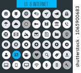big ui and internet icon set | Shutterstock .eps vector #1065900683
