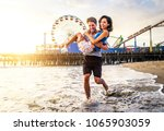 couple of lovers on a romantic... | Shutterstock . vector #1065903059