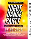 night dance party music night... | Shutterstock .eps vector #1065908330