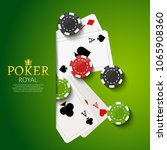 casino background template... | Shutterstock .eps vector #1065908360