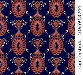 vintage oriental paisley... | Shutterstock .eps vector #1065913244