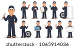professional auto mechanic in... | Shutterstock .eps vector #1065914036