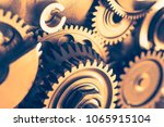 industrial gear wheels  close... | Shutterstock . vector #1065915104