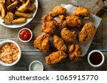 delicious homemade crispy fried ... | Shutterstock . vector #1065915770
