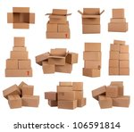 stacks of cardboard boxes... | Shutterstock . vector #106591814