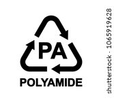 plastic recycling symbol pa ... | Shutterstock .eps vector #1065919628