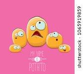 potato family cartoon... | Shutterstock .eps vector #1065919859