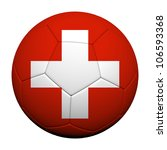 Switzerland Flag Pattern 3d rendering of a soccer ball - stock photo
