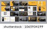 presentation template for... | Shutterstock .eps vector #1065934199