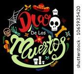 dia de los muertos badge | Shutterstock .eps vector #1065935420