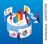 isometric data plan | Shutterstock .eps vector #1065937196