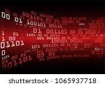 binary circuit board future... | Shutterstock .eps vector #1065937718