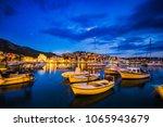 scenic coast of town hvar at... | Shutterstock . vector #1065943679