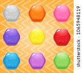 sweet candy match3 hexagon... | Shutterstock .eps vector #1065948119