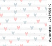 repeated hearts and round dots... | Shutterstock .eps vector #1065950540