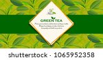 green tea leaves manu and... | Shutterstock .eps vector #1065952358
