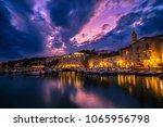 scenic coast of town hvar at...   Shutterstock . vector #1065956798