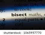 Small photo of bisect word in a dictionary. bisect concept.