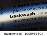 Small photo of backwash word in a dictionary. backwash concept.
