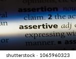 assertive word in a dictionary. ... | Shutterstock . vector #1065960323