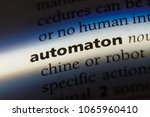 automaton word in a dictionary. ... | Shutterstock . vector #1065960410