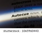 Small photo of autocue word in a dictionary. autocue concept.