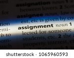 assignment word in a dictionary.... | Shutterstock . vector #1065960593