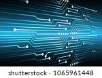 binary circuit board future... | Shutterstock .eps vector #1065961448