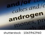 androgen word in a dictionary.... | Shutterstock . vector #1065962960
