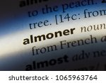 Small photo of almoner word in a dictionary. almoner concept.