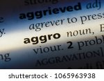 Small photo of aggro word in a dictionary. aggro concept.