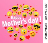 happy mother's day  label or... | Shutterstock .eps vector #1065967439