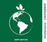 happy earth day greeting design.... | Shutterstock .eps vector #1065968849