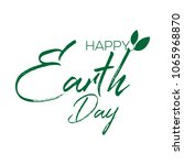 happy earth day greeting design.... | Shutterstock .eps vector #1065968870