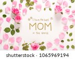 mother's day message with roses ... | Shutterstock . vector #1065969194