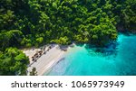 aerial view of natural clear... | Shutterstock . vector #1065973949