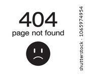 404 error page not found vector | Shutterstock .eps vector #1065974954