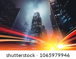 motion light speed effect on... | Shutterstock . vector #1065979946